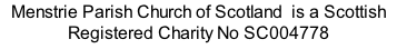 Menstrie Parish Church of Scotland  is a Scottish Registered Charity No SC004778